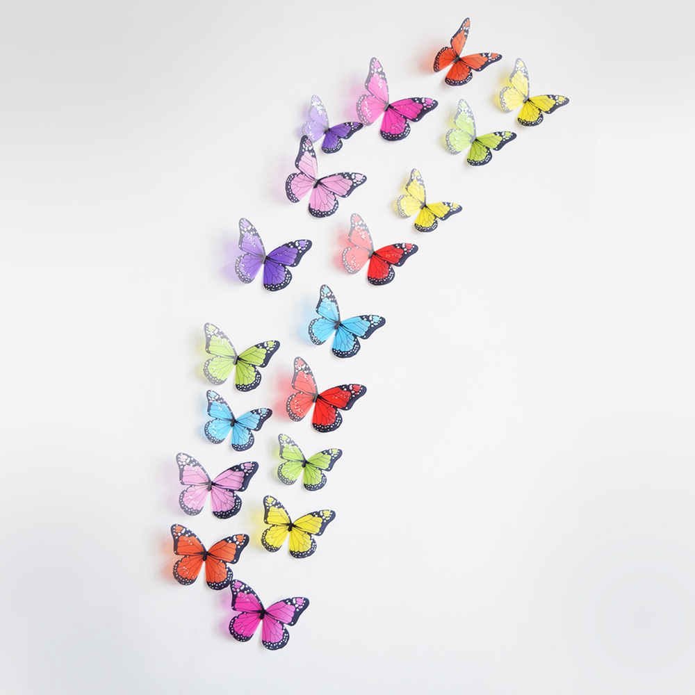 12 pcs 3d butterfly wall stickers art decal home room decora