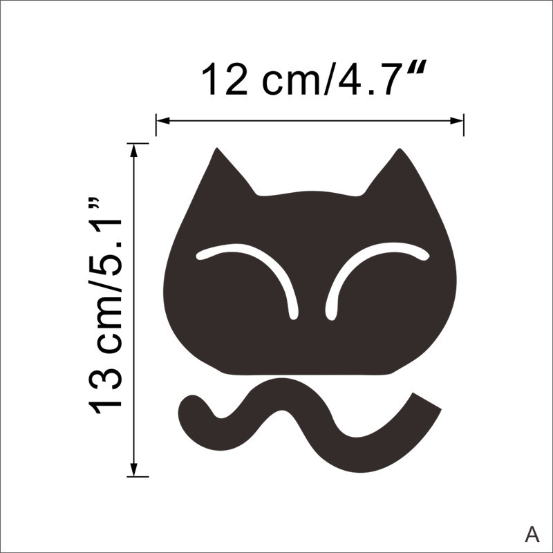 Cute Cat Dog Switch Stickers Wall Stickers Home Decoration Bedroom Parlor Decoration