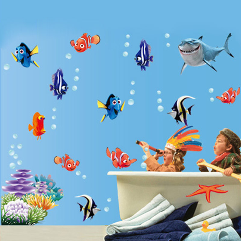 NEMO Wall Sticker Cartoon Wall Sticker Decor Removable Vinyl Nursery Kids Room Decals
