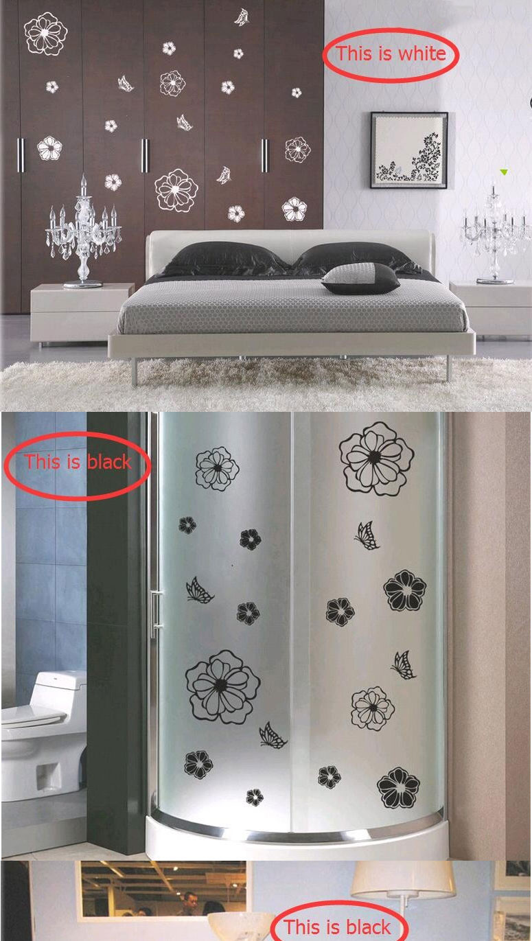 High Quality Flowers and Butterflies Refrigerator Stickers Wall Stickers