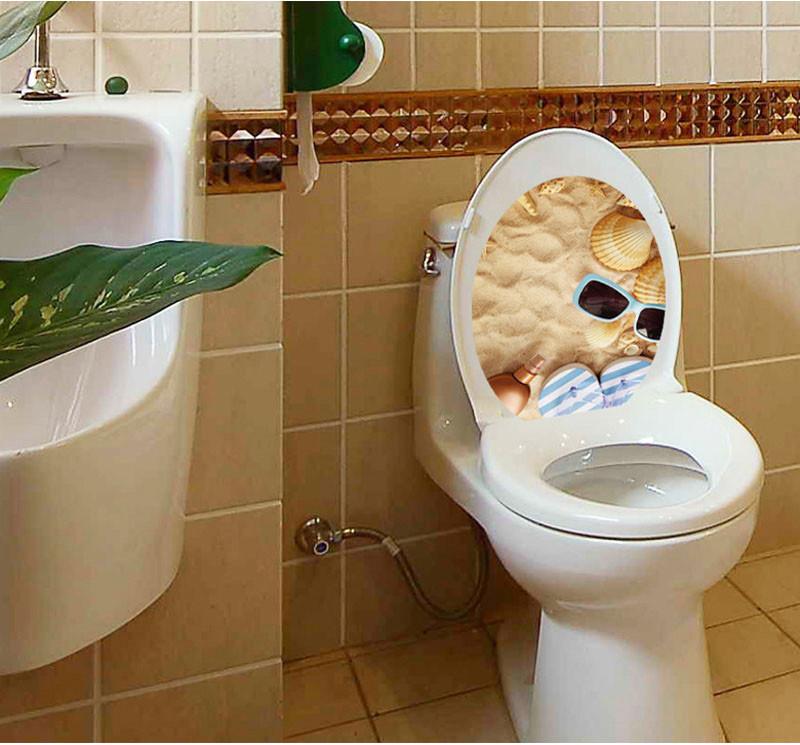 Toilet Seat Cover Sticker Toilet Stool Commode Sticker home decor ...