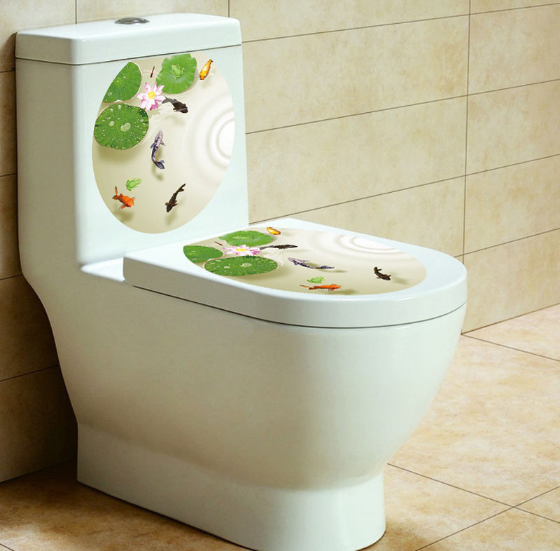 Toilet Seat Cover Sticker Toilet Stool Commode Sticker home decor Bathroom WC Pedestal