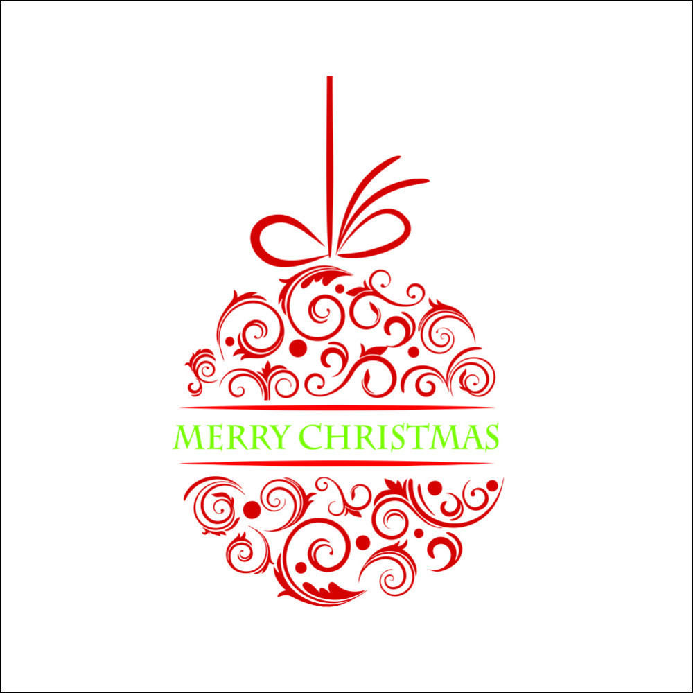 Christmas Apple Merry Christmas Wall Stickers Home Decor Waterproof Removable