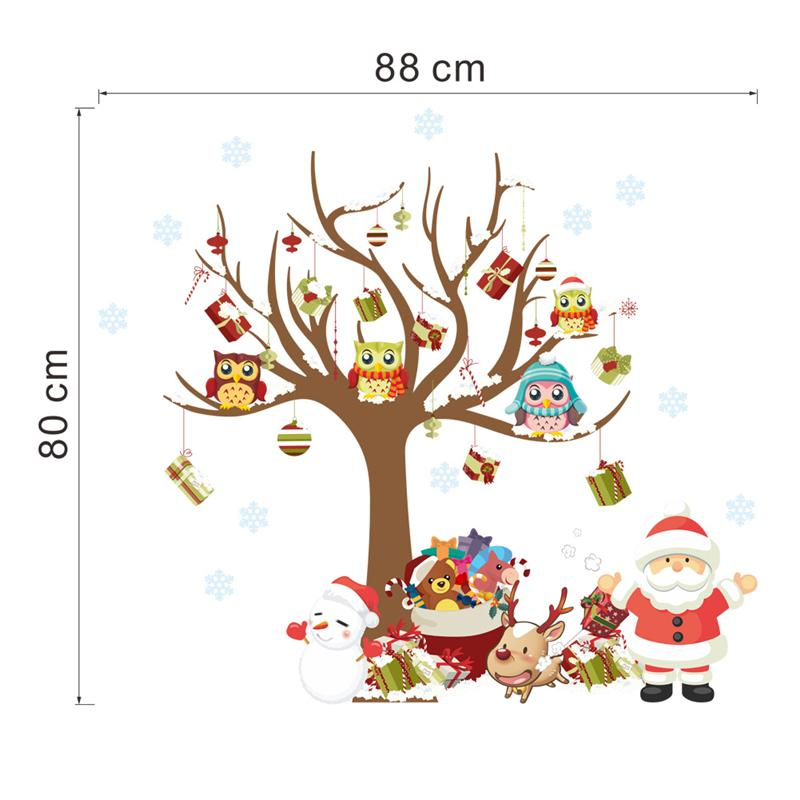 Christmas Tree Snowman Santa Claus Reindeer Wall Stickers
